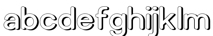 Relica Rounded Retro Font LOWERCASE