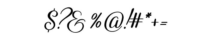 Reshuffle Alternate Regular Font OTHER CHARS