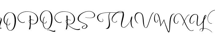 Reshuffle Slant Regular Font UPPERCASE