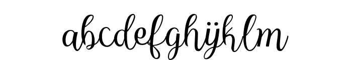 Reshuffle Slant Regular Font LOWERCASE