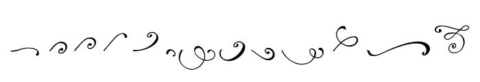 Reshuffle Swash Regular Font UPPERCASE
