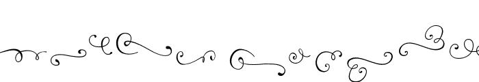 Reshuffle Swash Regular Font LOWERCASE