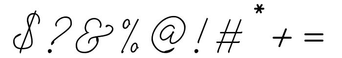 Rinstonia Regular Font OTHER CHARS