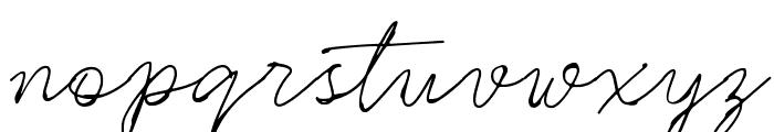 Rinstonia Regular Font LOWERCASE