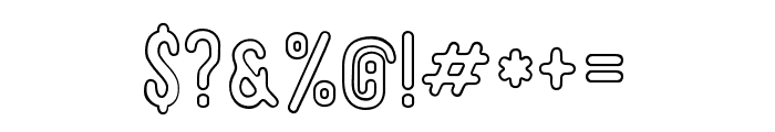 Roseberry-Outline Font OTHER CHARS