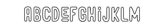 Roseberry-Outline Font LOWERCASE