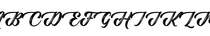 Rustling Trees Regular Font UPPERCASE