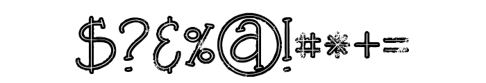 Salada Bold line grunge Font OTHER CHARS