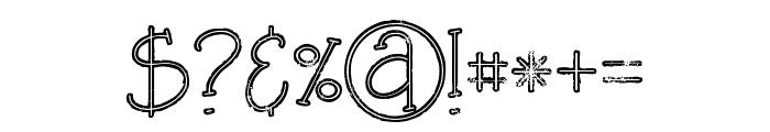 Salada line grunge Font OTHER CHARS