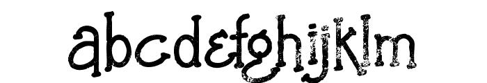 SaladaBoldGrunge Font LOWERCASE