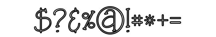 SaladaBoldline Font OTHER CHARS