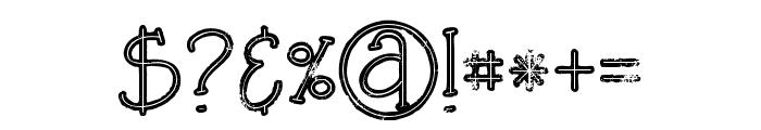 SaladaBoldlinegrunge Font OTHER CHARS