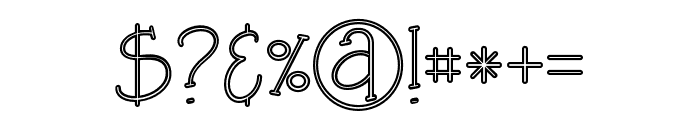 Saladalineregular Font OTHER CHARS