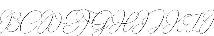 SalmaAliandaScript Font UPPERCASE