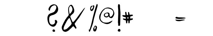 Savory Regular Font OTHER CHARS