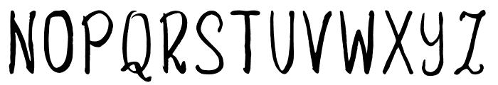 Savory Regular Font UPPERCASE