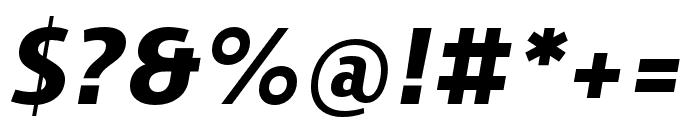Skrinia Black Italic Font OTHER CHARS
