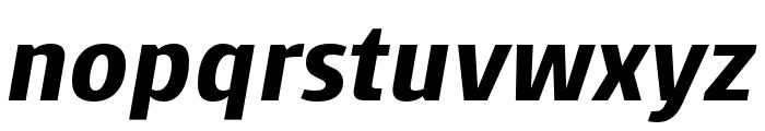 Skrinia Black Italic Font LOWERCASE