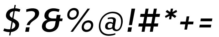 Skrinia Bold Italic Font OTHER CHARS