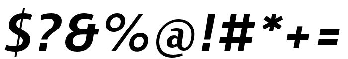 Skrinia Extrabold Italic Font OTHER CHARS