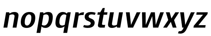 Skrinia Extrabold Italic Font LOWERCASE