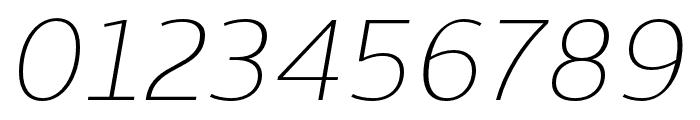 Skrinia Extralight Italic Font OTHER CHARS
