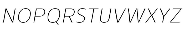 Skrinia Extralight Italic Font UPPERCASE