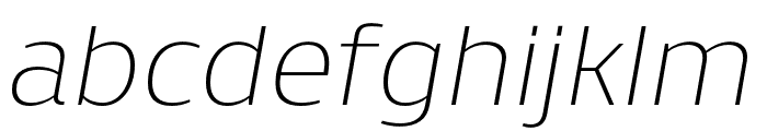 Skrinia Extralight Italic Font LOWERCASE
