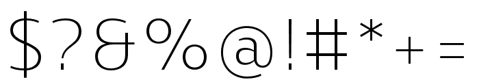 Skrinia Extralight Font OTHER CHARS