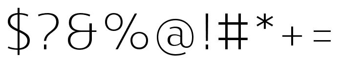 Skrinia Light Font OTHER CHARS