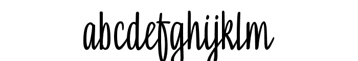 SkynovaScript Font LOWERCASE