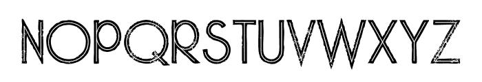 Skywalker Bold Inline Grunge Font UPPERCASE