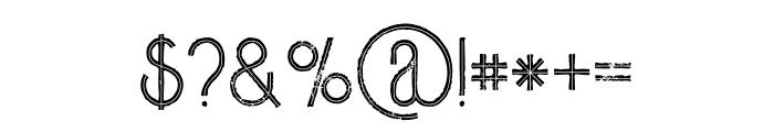 Skywalker Inline Grunge Font OTHER CHARS