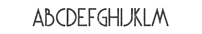 Skywalker Inline Grunge Font UPPERCASE