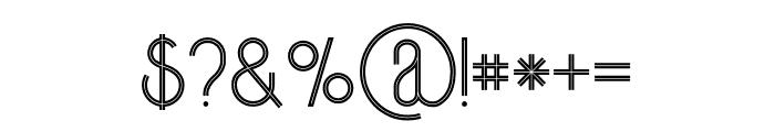 Skywalker Inline Font OTHER CHARS
