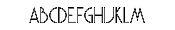 Skywalker Inline Font UPPERCASE