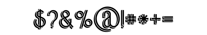 Skywalker Shadow Font OTHER CHARS