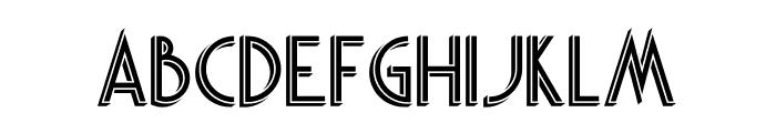 Skywalker Shadow Font UPPERCASE