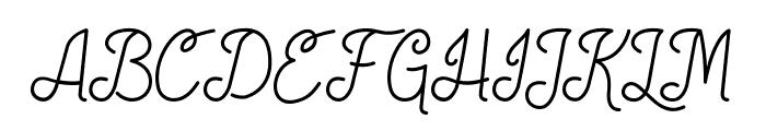 Society Script Font UPPERCASE