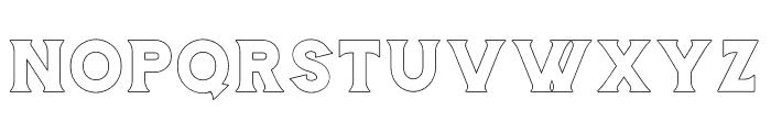 Storehouse Outline Font UPPERCASE