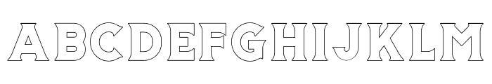 Storehouse Outline Font LOWERCASE