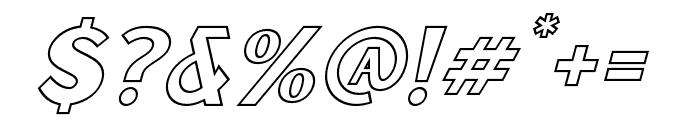 Sunborn Sans One Outline Slant Italic Font OTHER CHARS