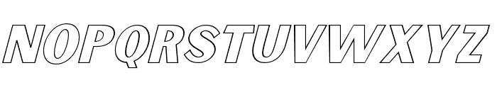 Sunborn Sans One Outline Slant Italic Font LOWERCASE
