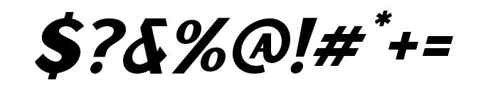 Sunborn Sans One Slant Italic Font OTHER CHARS