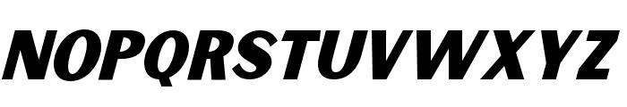 Sunborn Sans One Slant Italic Font UPPERCASE