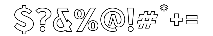 Sunborn-SansOneOutline Font OTHER CHARS