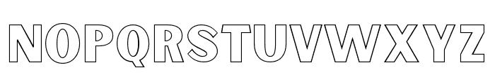 Sunborn-SansOneOutline Font LOWERCASE