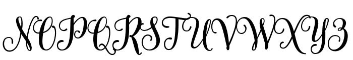 SweetnessScript Font UPPERCASE