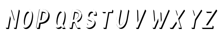 TF Continental 3D No.1 Italic Font UPPERCASE