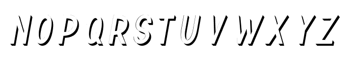 TF Continental 3D No.1 Italic Font LOWERCASE